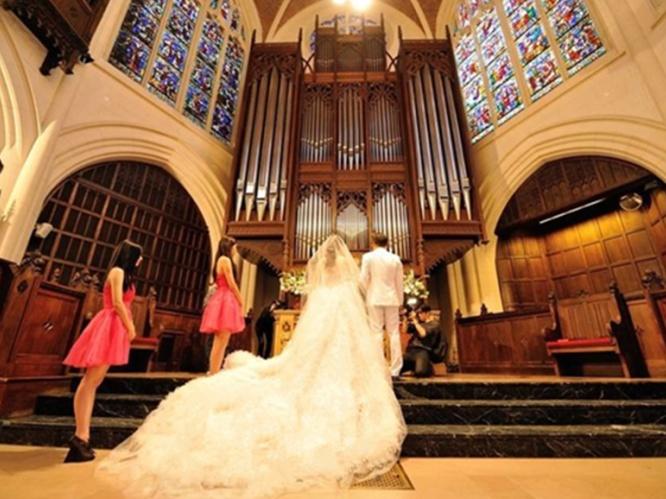 巴黎教堂婚礼套系